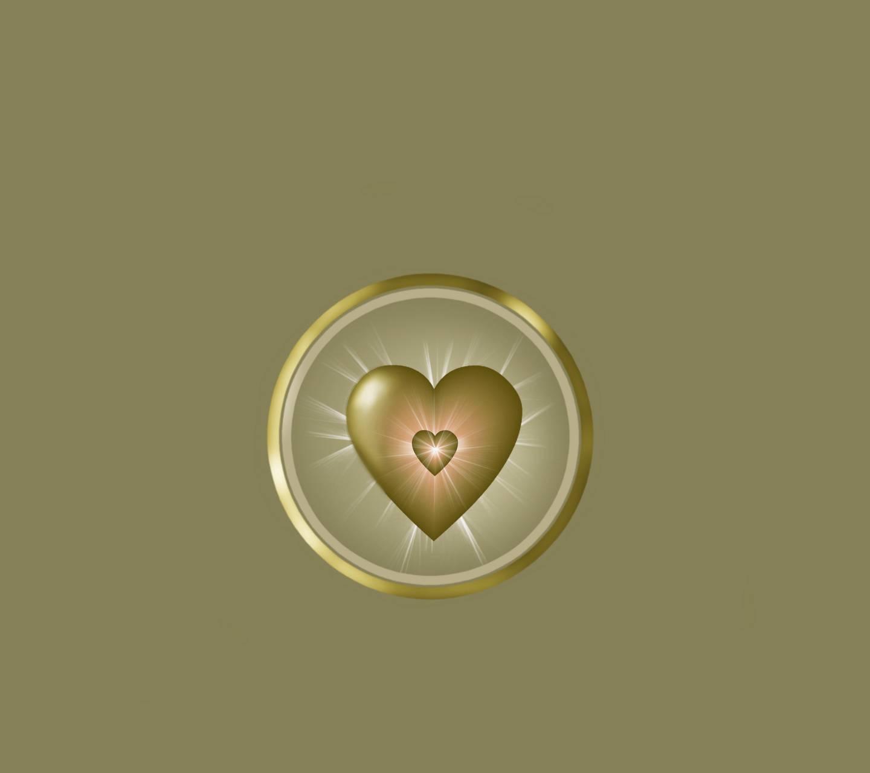 Shining Gold Heart