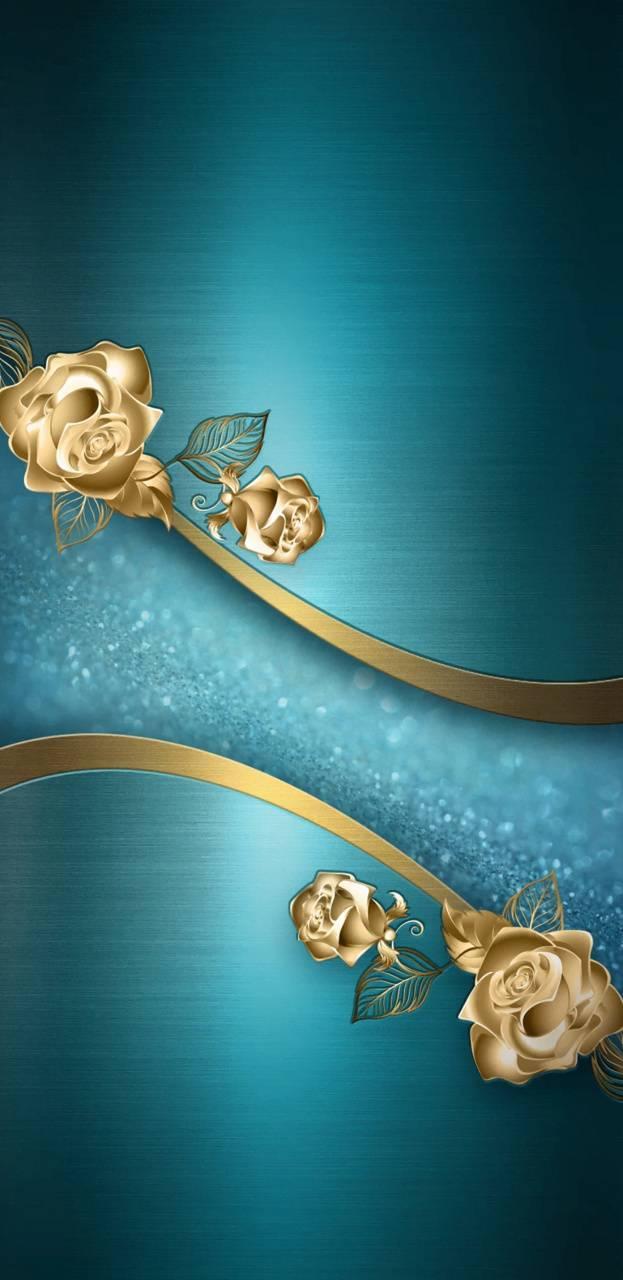 GoldenTealRoses