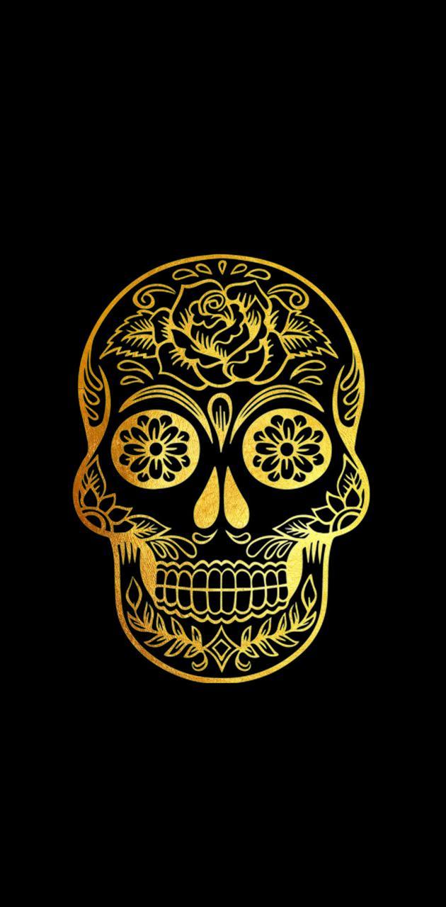 Gold skull   DR