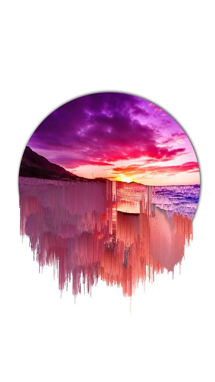 Glitch art abstract