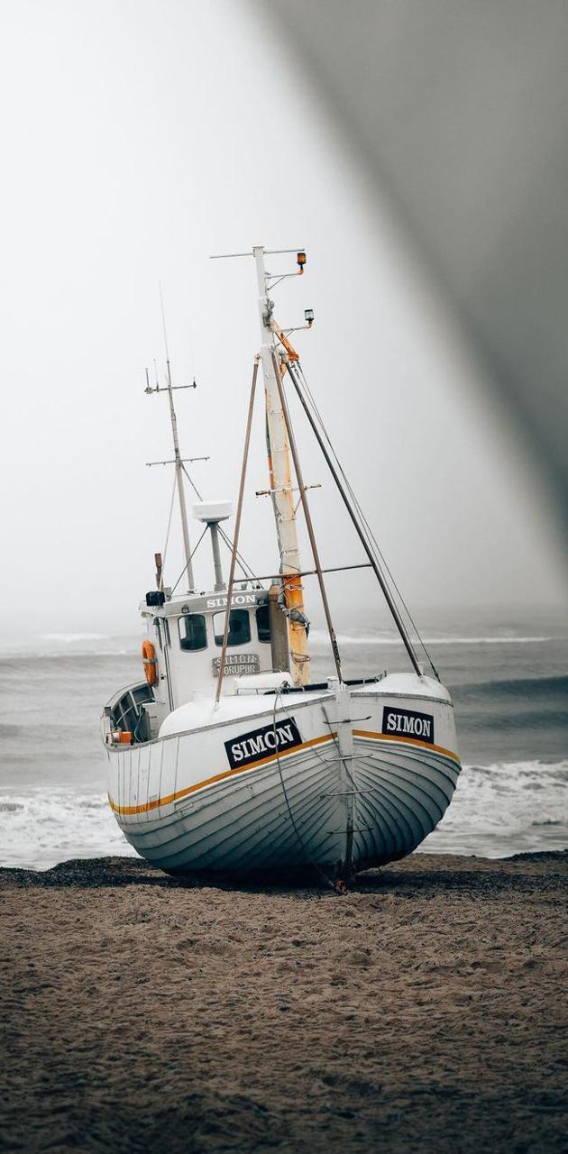 Rusty fishing boat