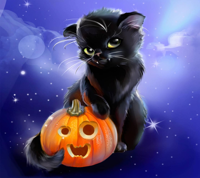 Iphone Screensavers: Halloween Kitty Wallpaper By Venus_