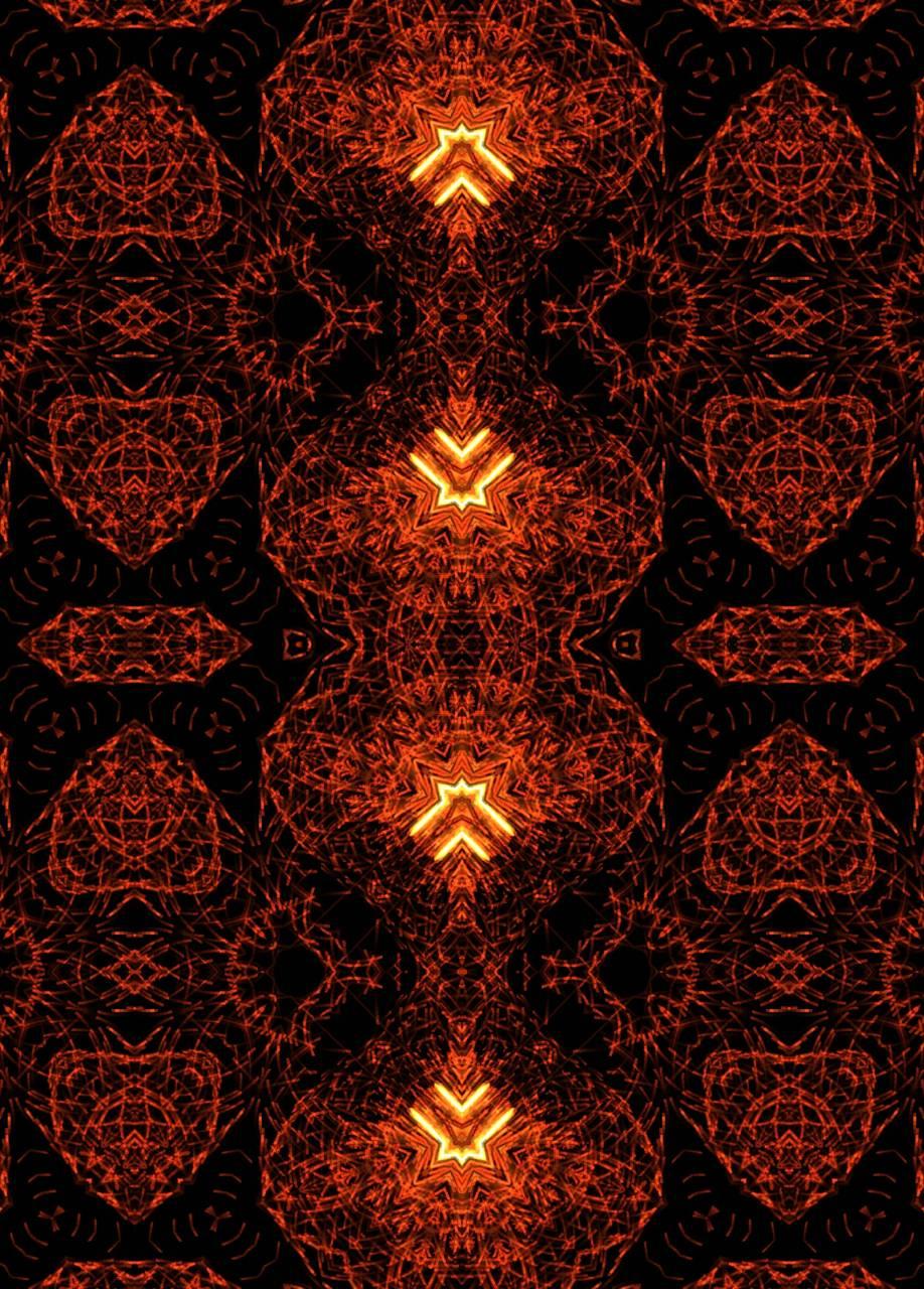 Orange kaleidoscope