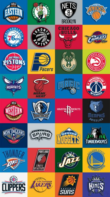 Nba Logo Wallpapers NBA Team Collage