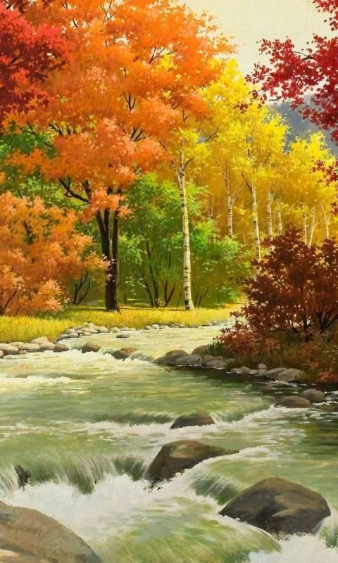 colourful river
