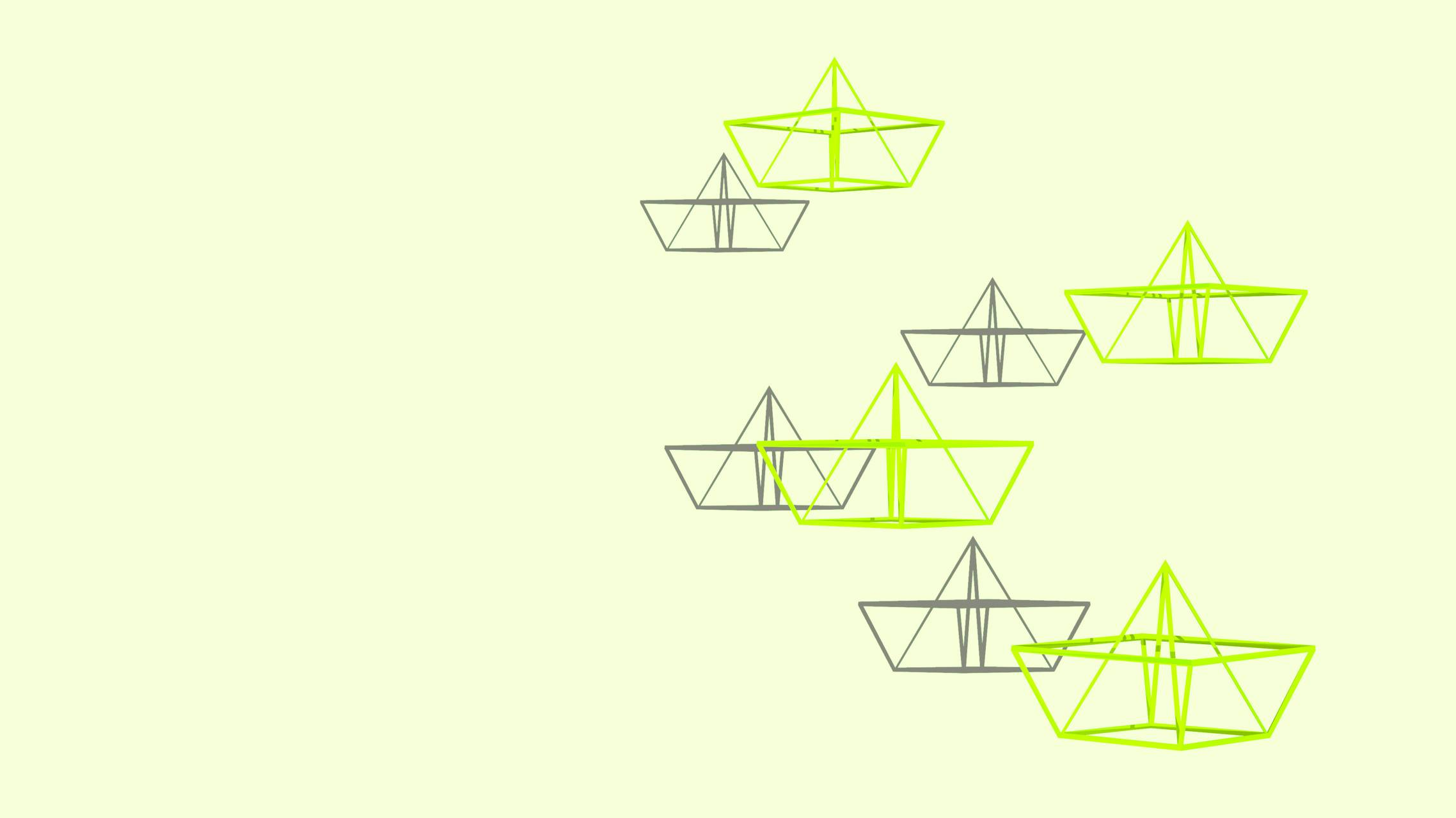 Wire boats green