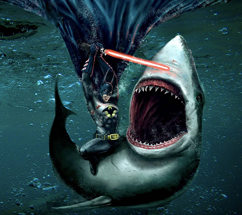 Batman vs Jaws