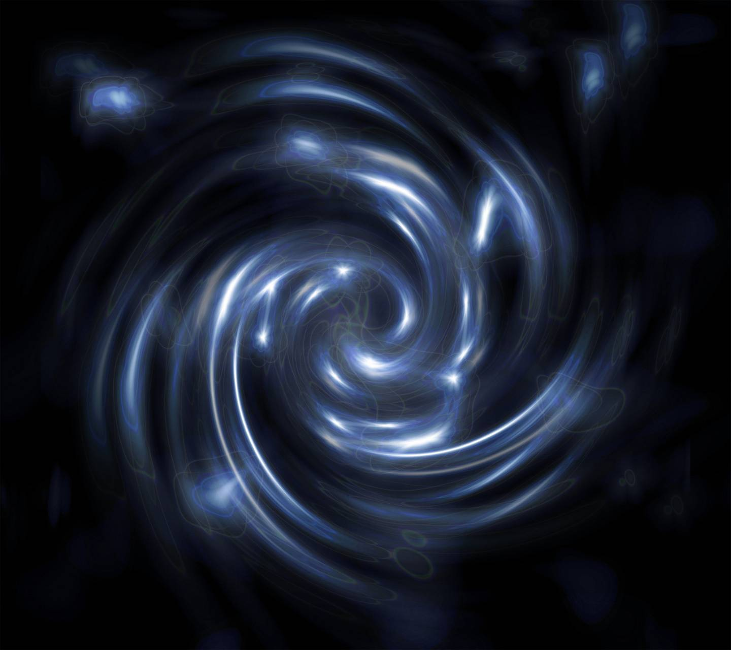 Blue Abstract Twirl