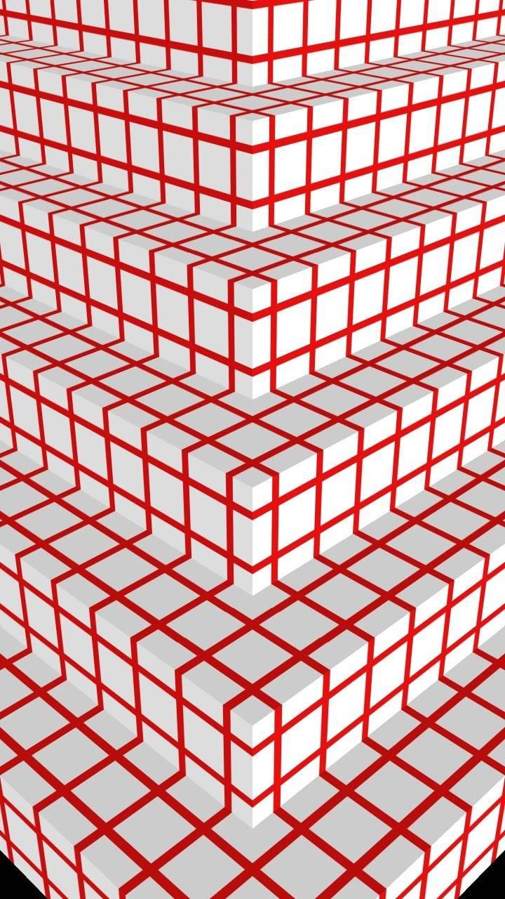 White-Red Steps x5