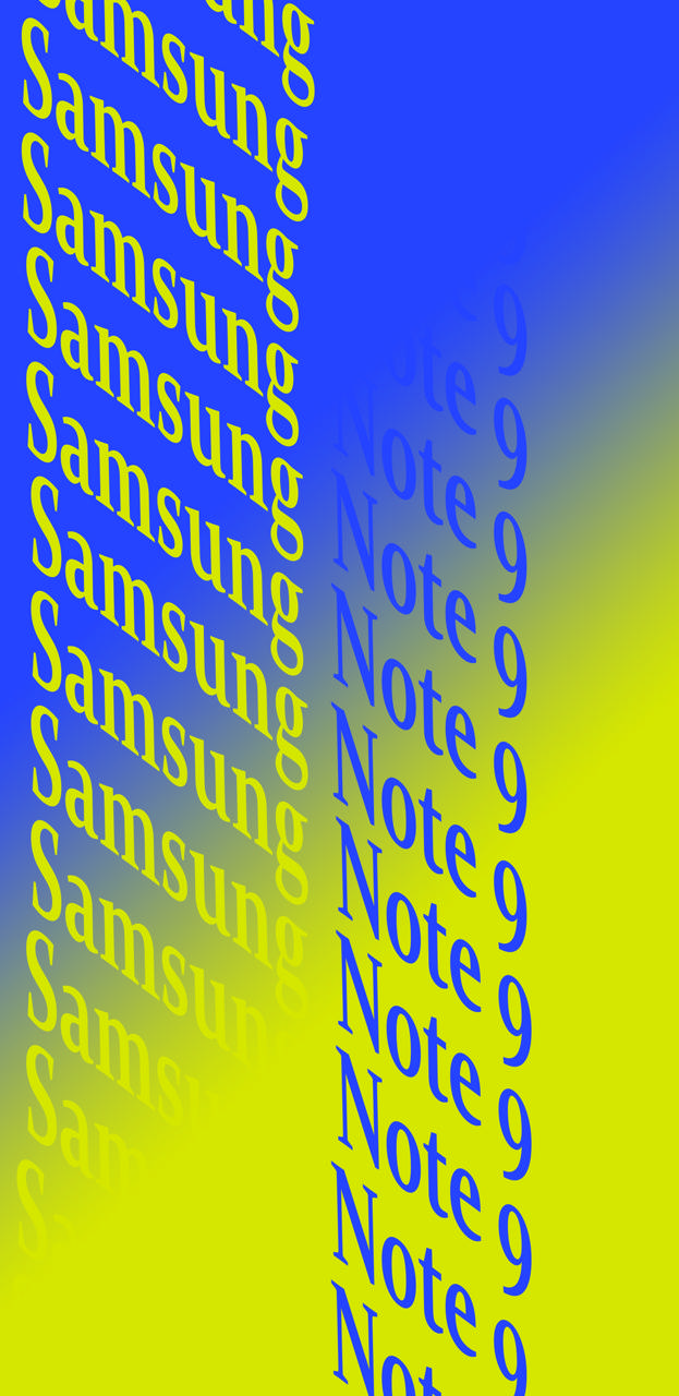 Note 9 Blue Yellow Wallpaper By Drft Kng 83 82 Free On Zedge