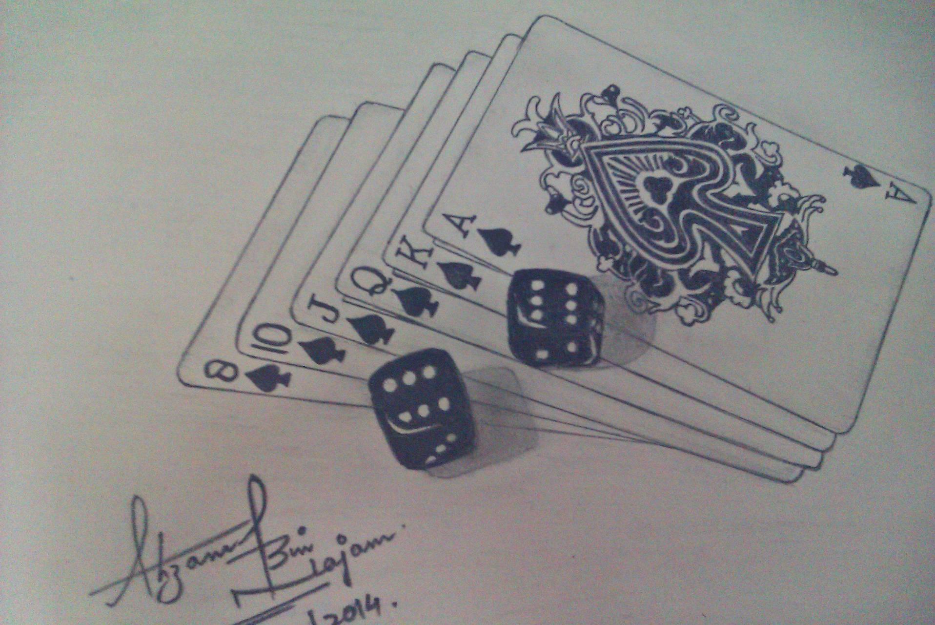 Playing card sketch