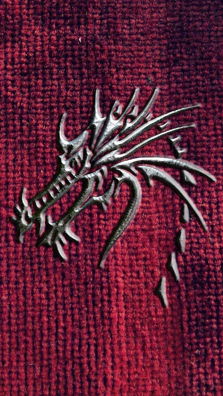 dragon on red