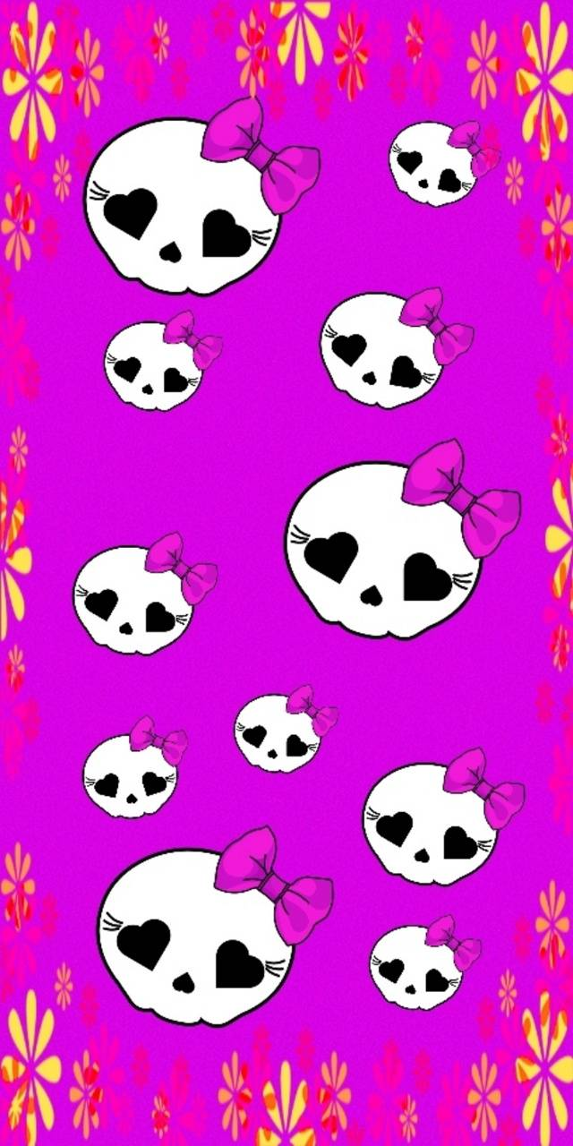 Girly Skulls Wallpaper By Lauraellenw Fa Free On Zedge