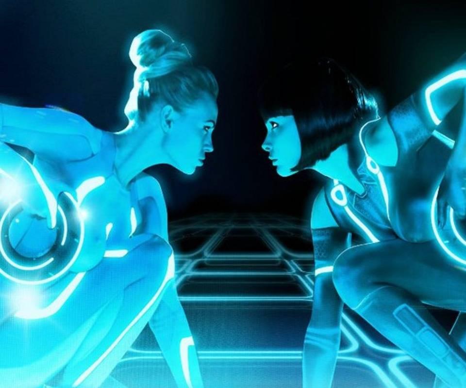 Tron Babes Duet Glow