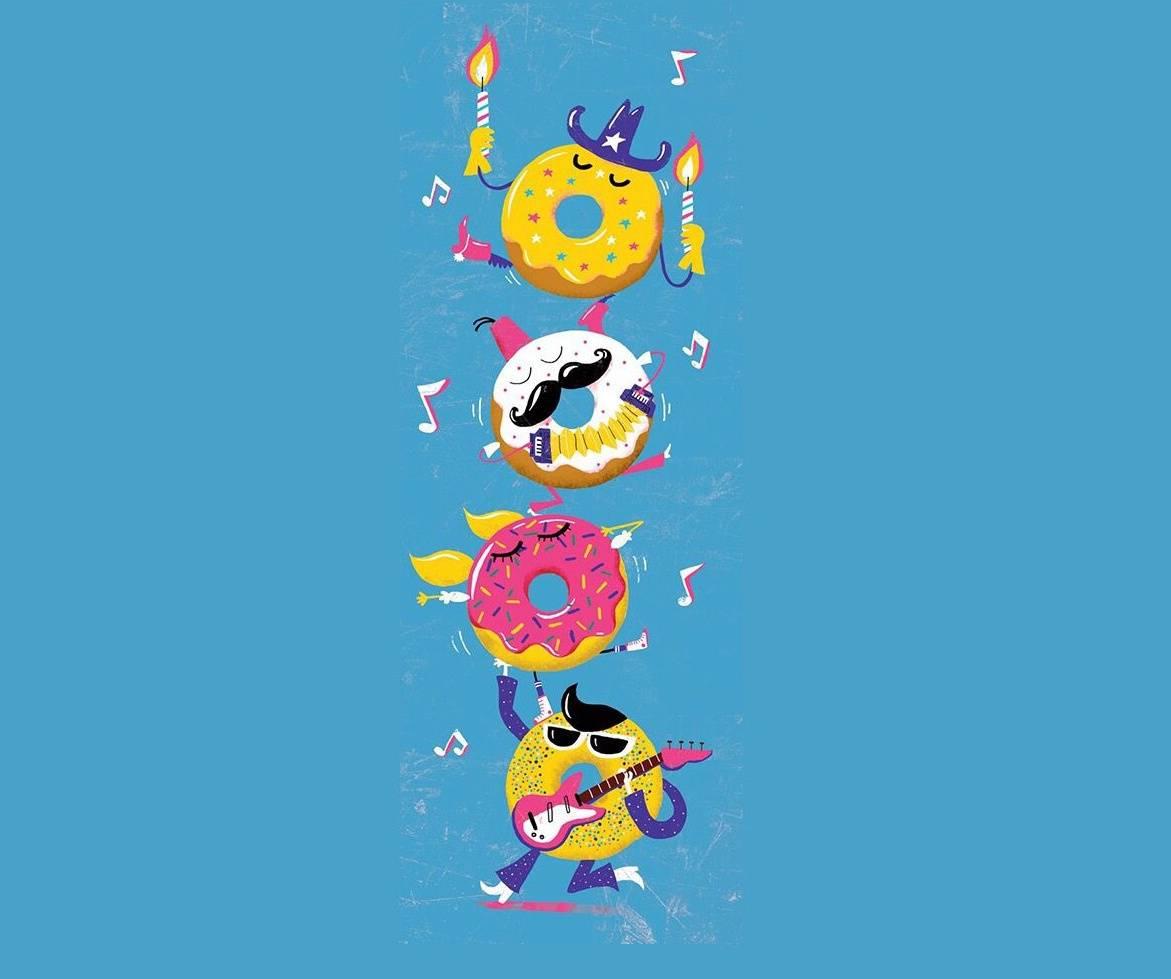Dancing donuts