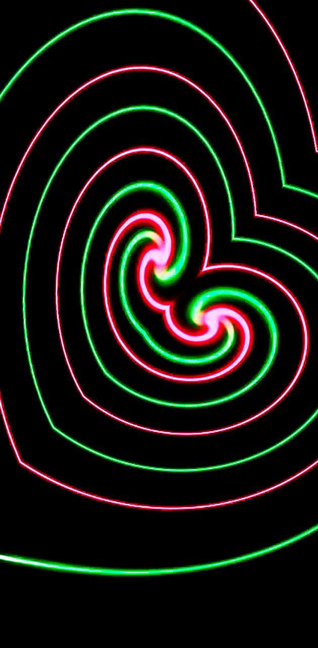 simple neon heart