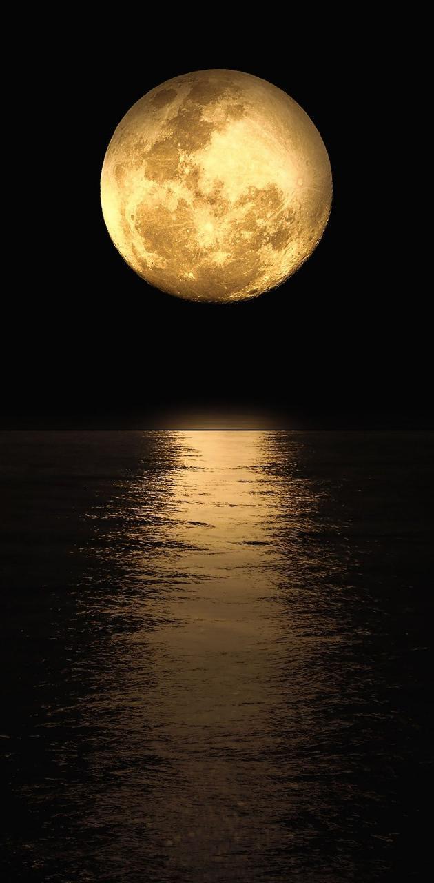 Moonshine on ocean