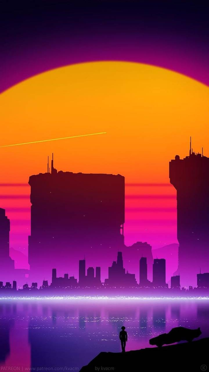Synthwave City Wallpaper By Realdisneyprincess Fc Free On Zedge