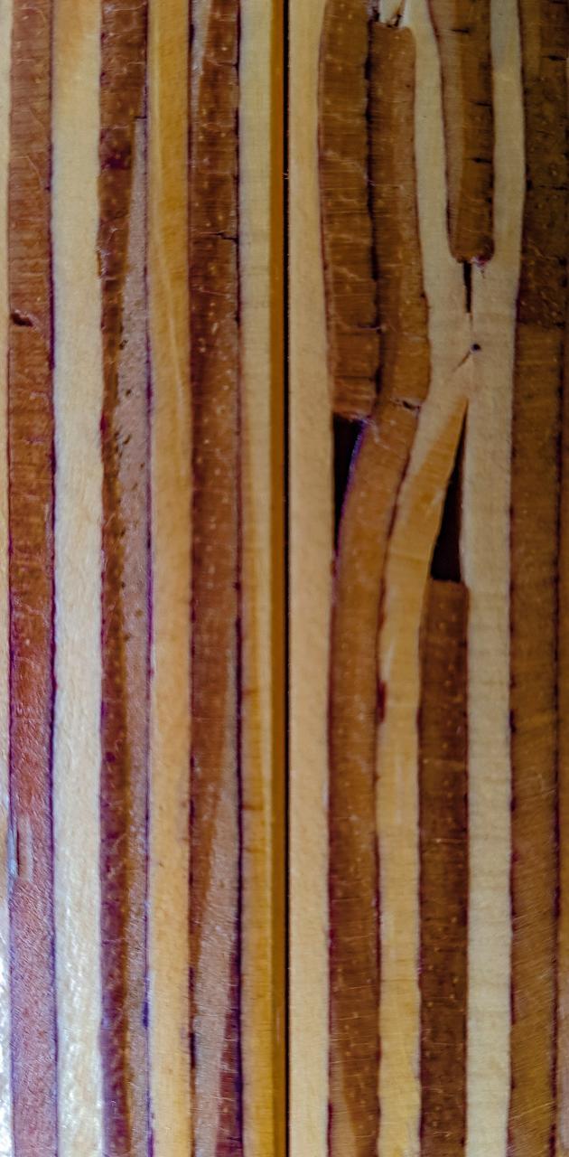 Glued timber
