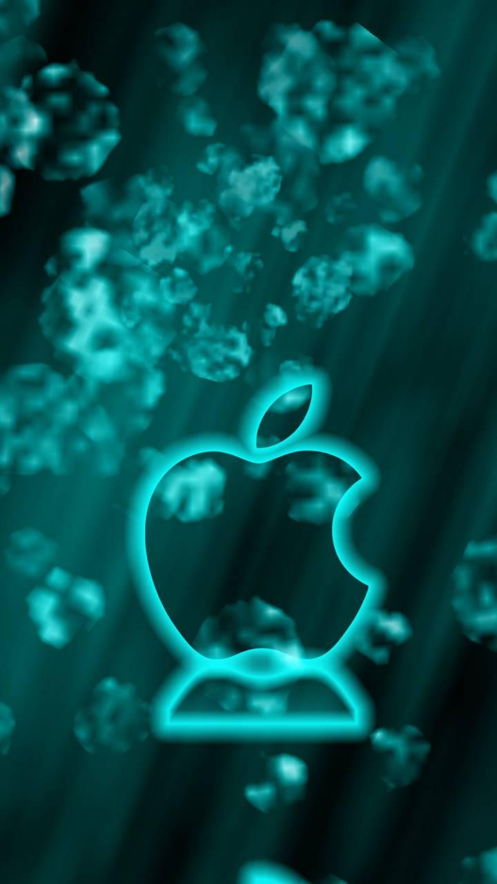 apple logo abstract