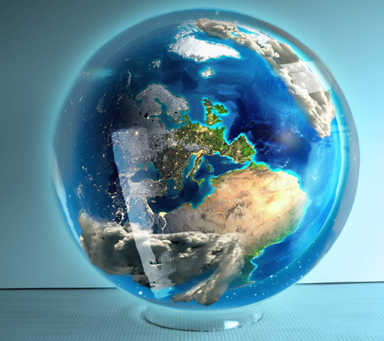 Earth in Globe