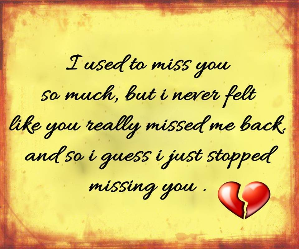 Stopped Missing You