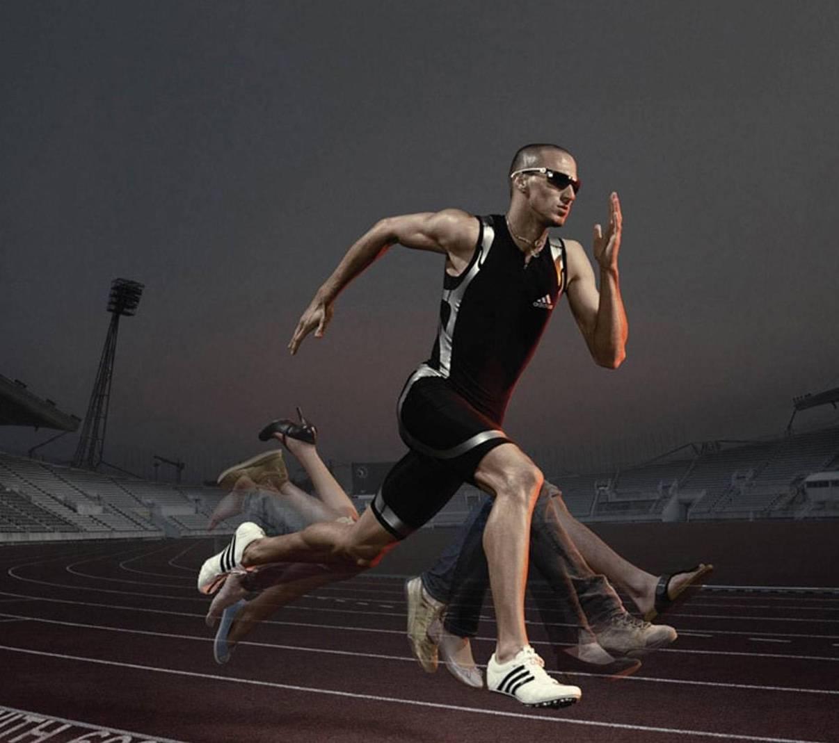 Смешная картинка с бегущим человеком