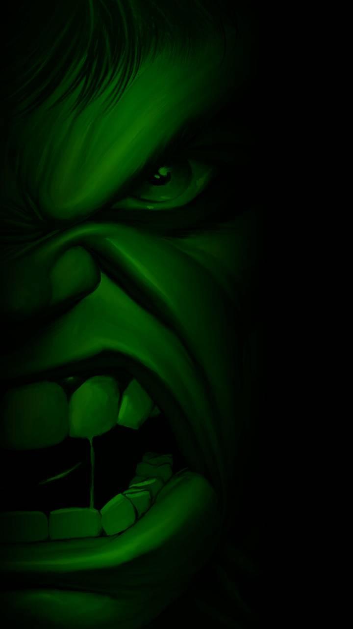 Half Hulk Face