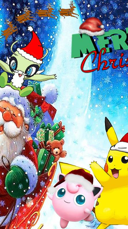Pokemon Christmas.Pokemons Christmas Wallpapers Free By Zedge