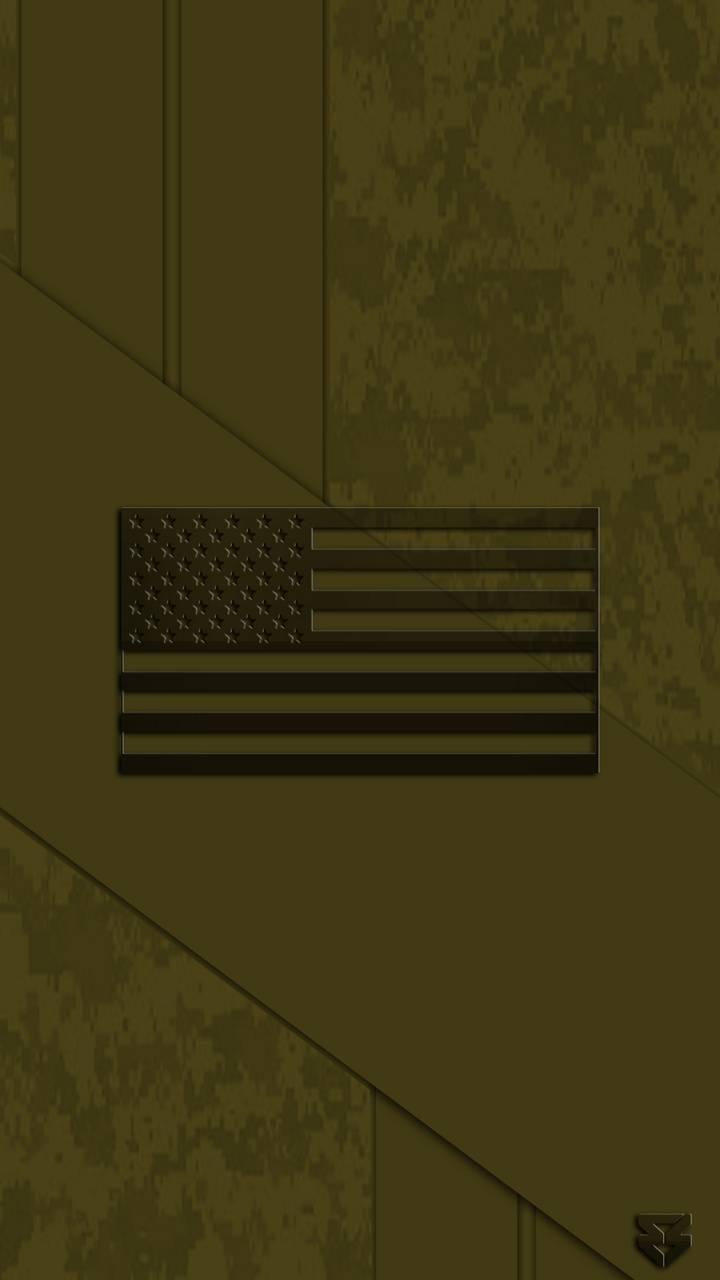 Digital Camo US Flag