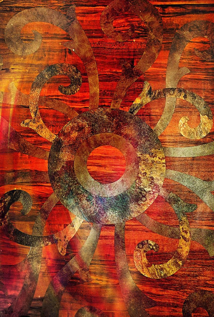 Red wood Circles