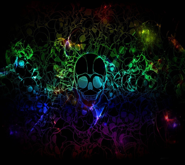 Multi-colored skull