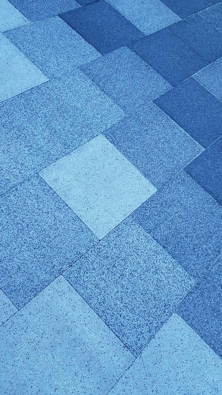 Blue tiles pattern