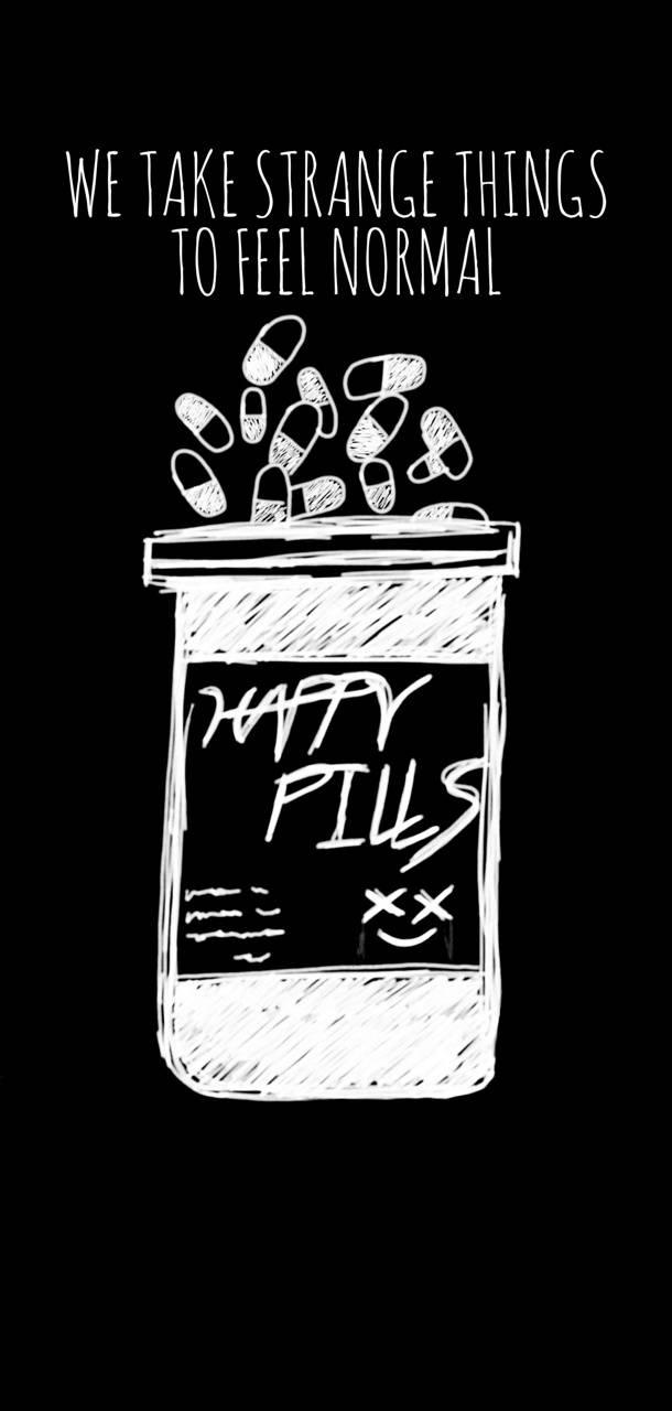 Happy pills drawn