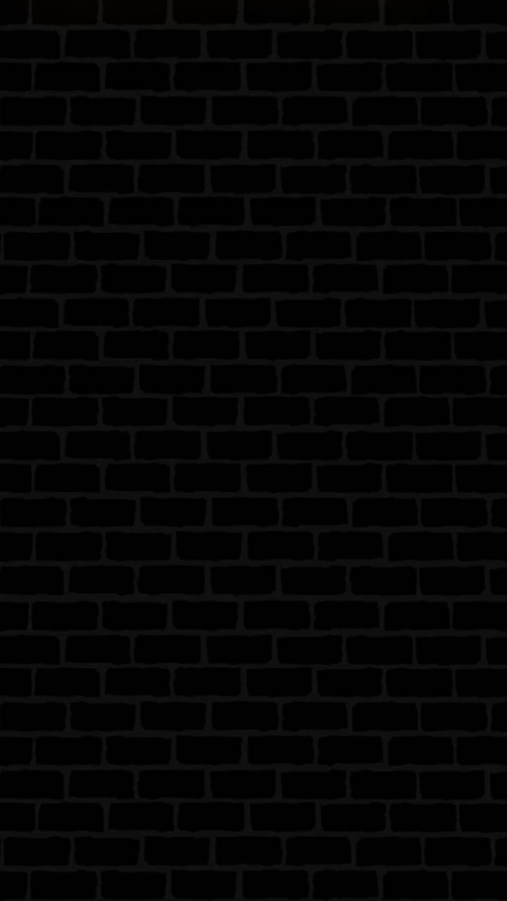 black bricks wall