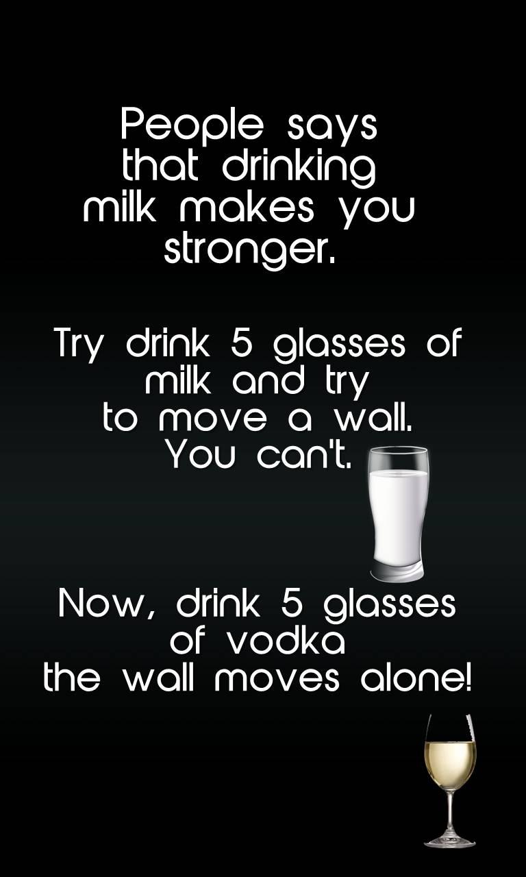 milk versus vodka