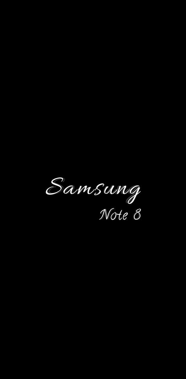 note 8 script white