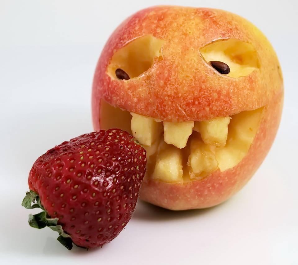 Смешные картинки ягод и фруктов