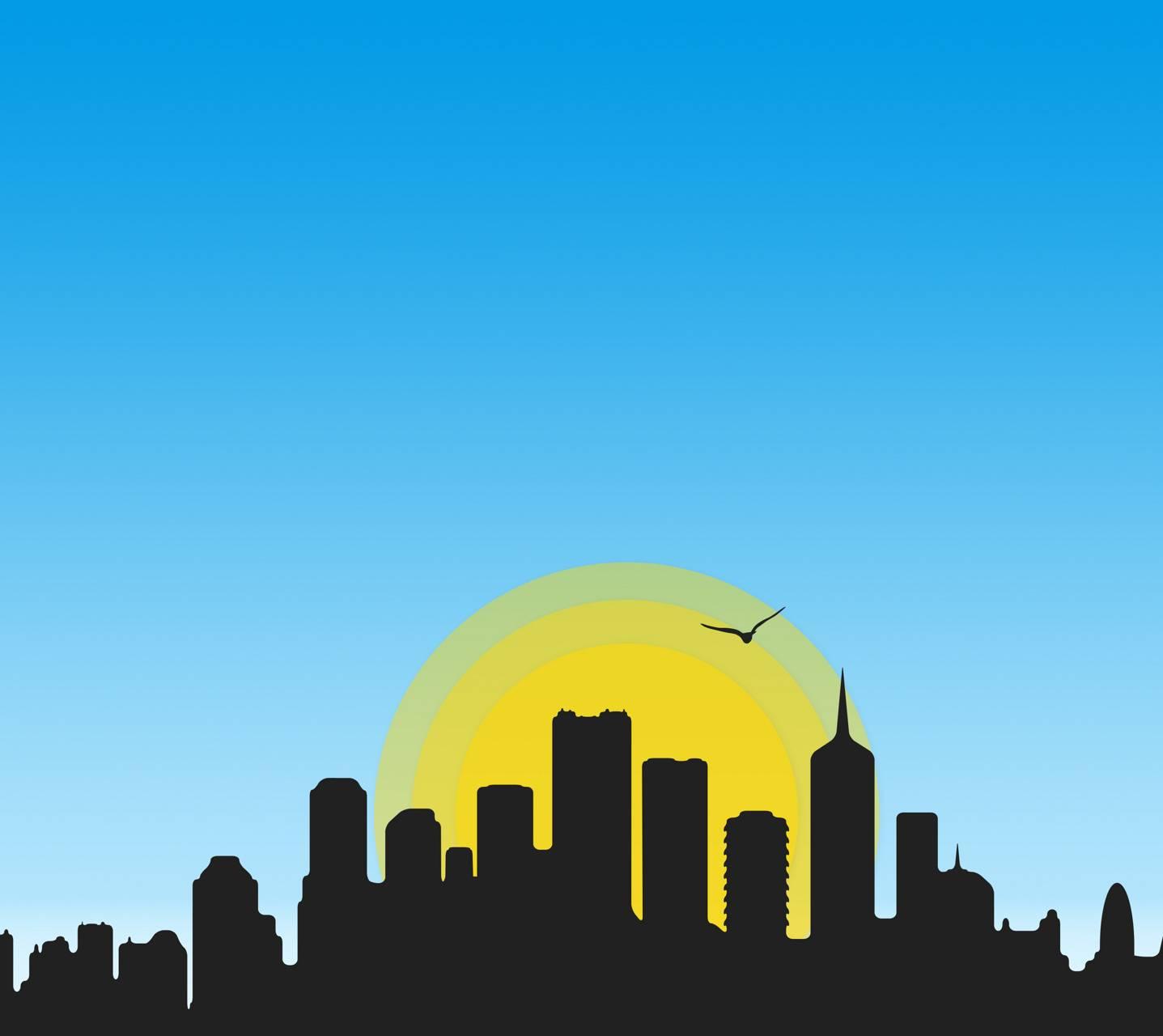 City Skyline Dawn