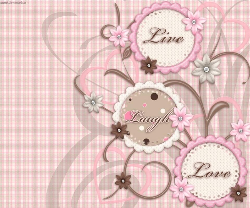Live Laugh Love Pink