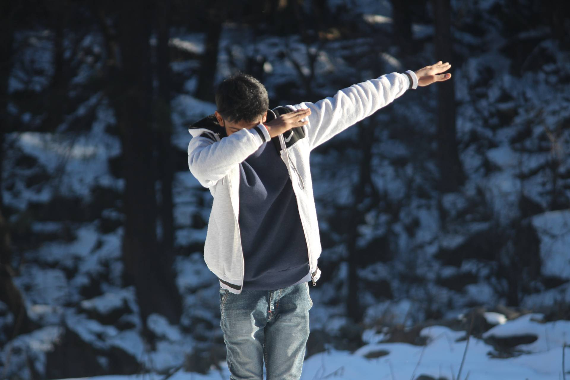 Dab in snow
