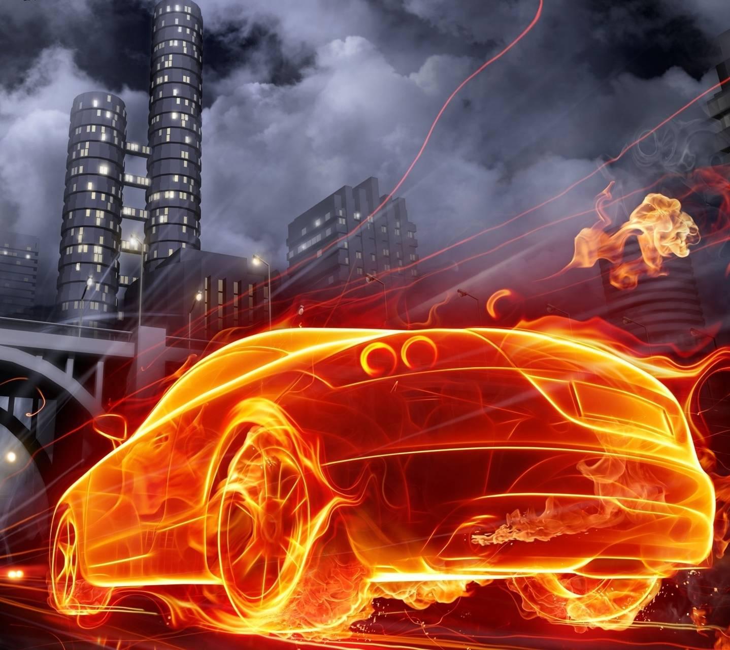 Audi TT Fire Art