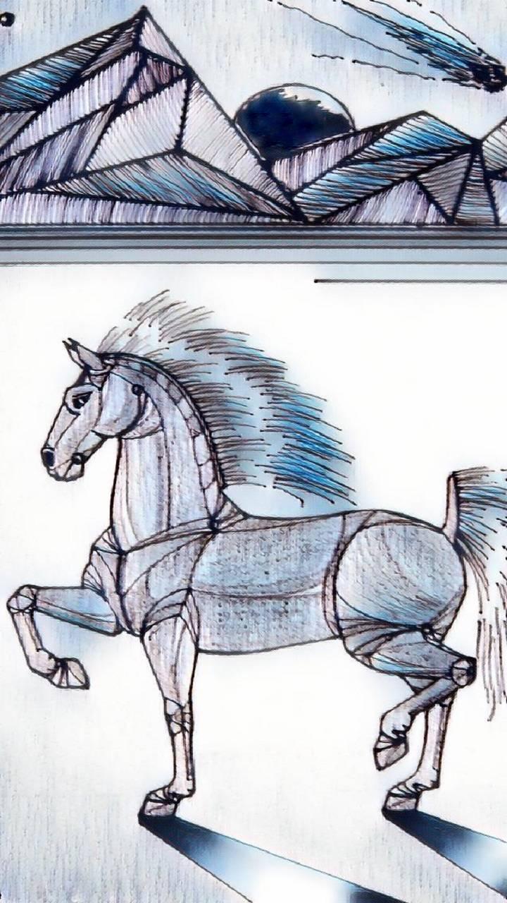 Sci-Fi Robot Horse