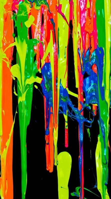Vibrant paint flow
