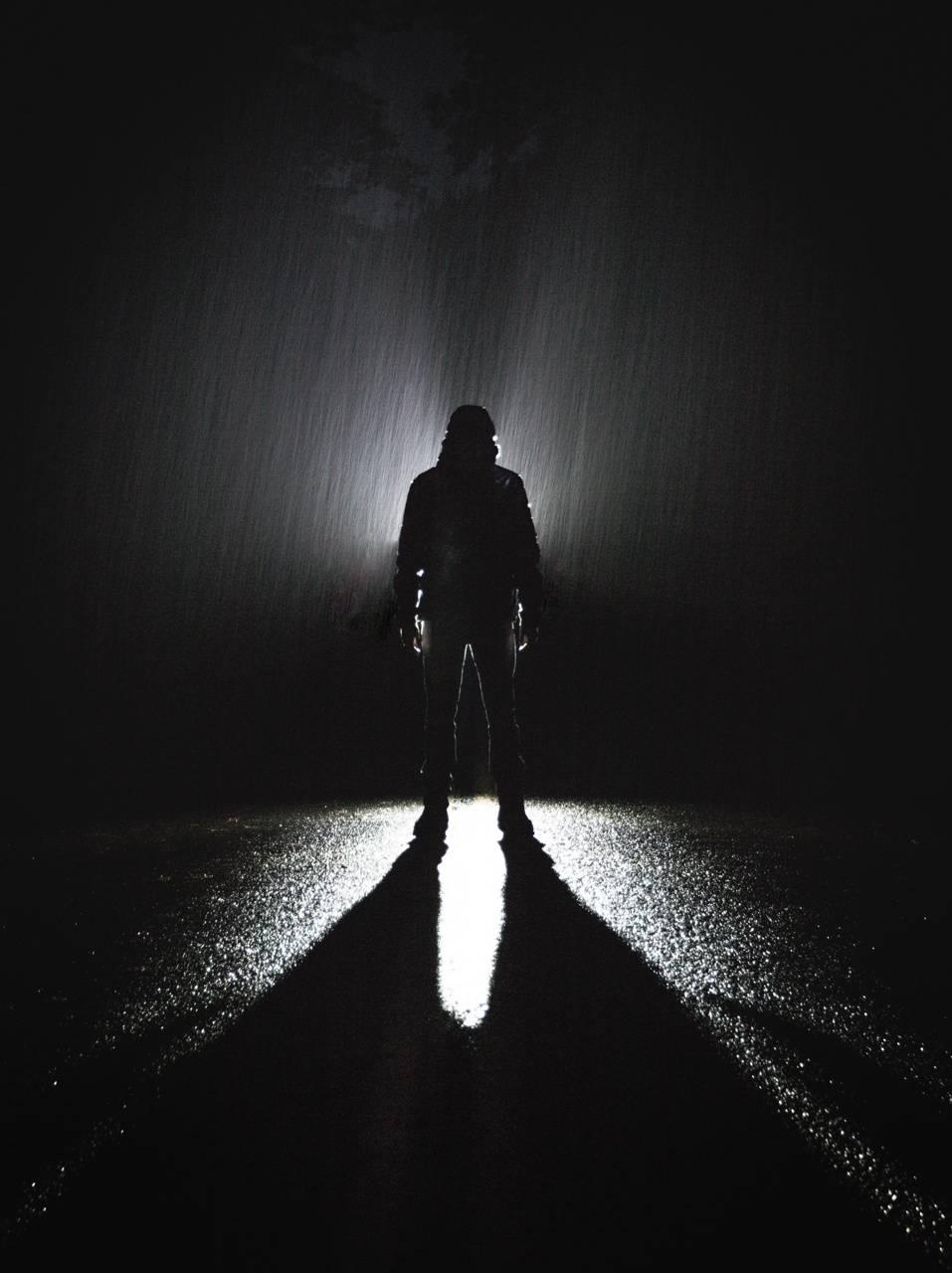 Dark Hoodie Rain