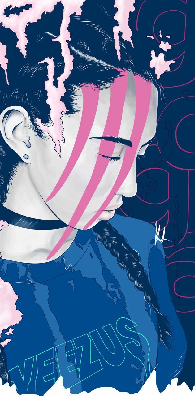 girl blue pink