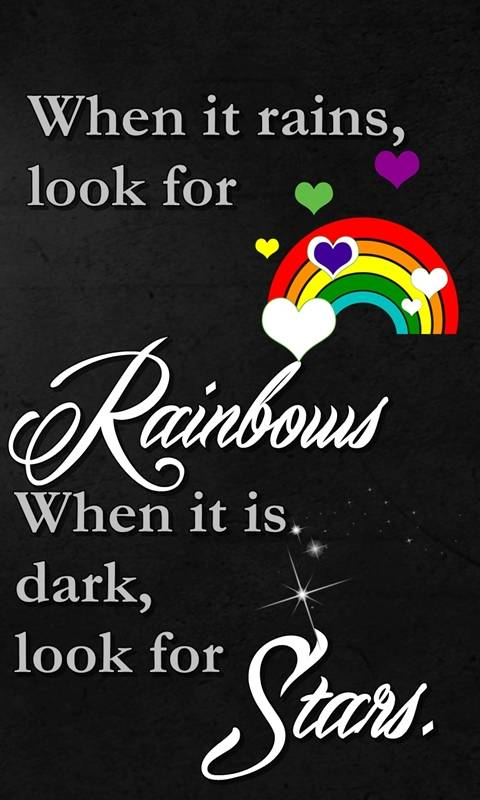 rainbows and stars