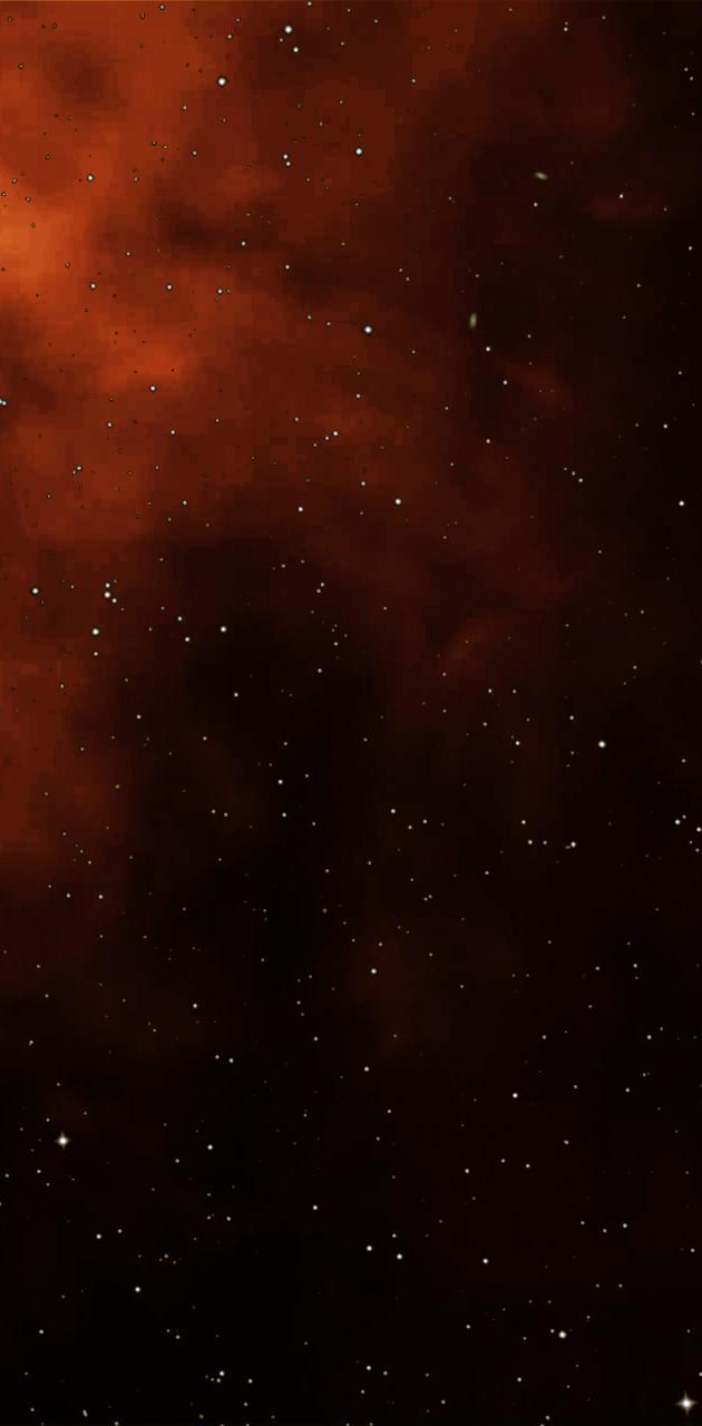 Oranger Sternhimmel