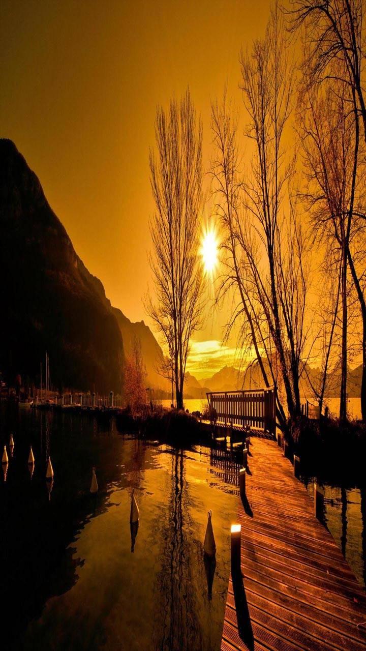 Sunset Bridge lake