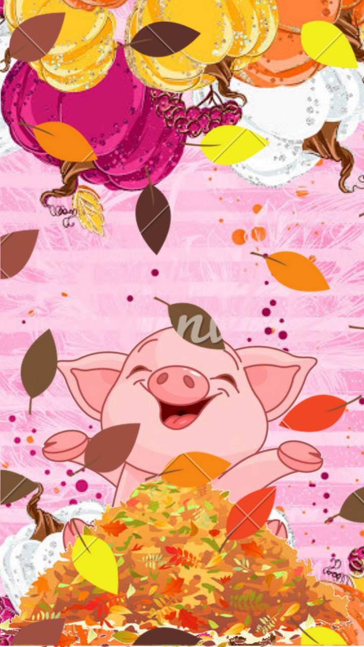 Piggie in fall